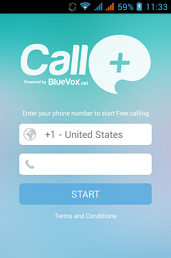 Make FREE unlimited voice calls to any mobile or landline with Call+