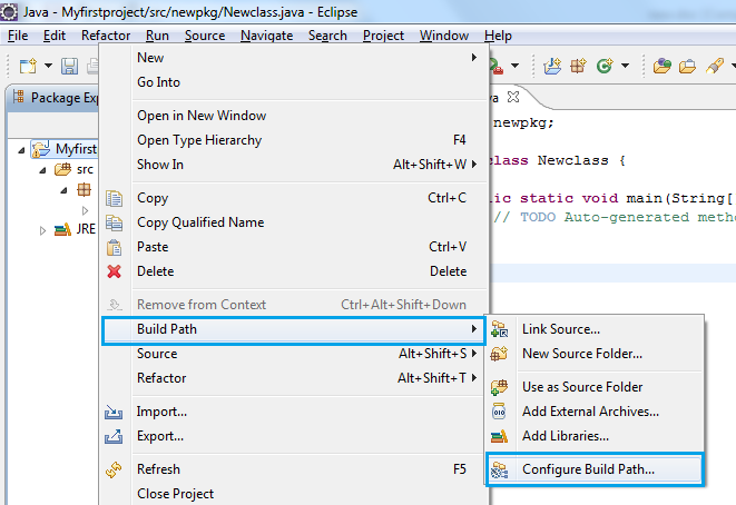Create a simple Java project and install TestNG in Eclipse
