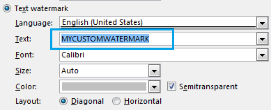 How to add or remove watermark in Word document
