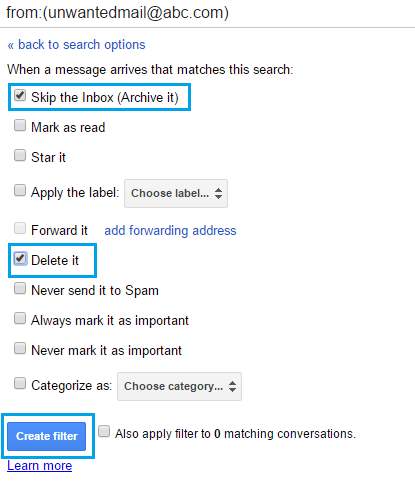 how to select more than 18 mails to delete